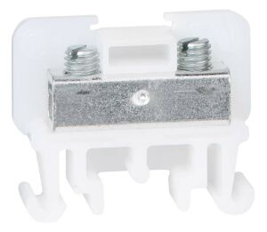 AB 1492-F1 NEMA/EEMAC Single Circuit Open Construction Block, Pressure Plate, Tubular Screw, #22 - #14 AWG, White, Pkg. Qty. of 50
