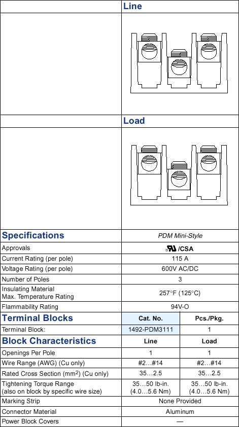 Contemporary 14 awg wire current rating model schematic diagram a b 1492 pdm3111 terminal block greentooth Image collections