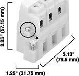 AB 1492-ED103 Panel Mount Block Pull apart 3-Pole White Pkg Qty 1