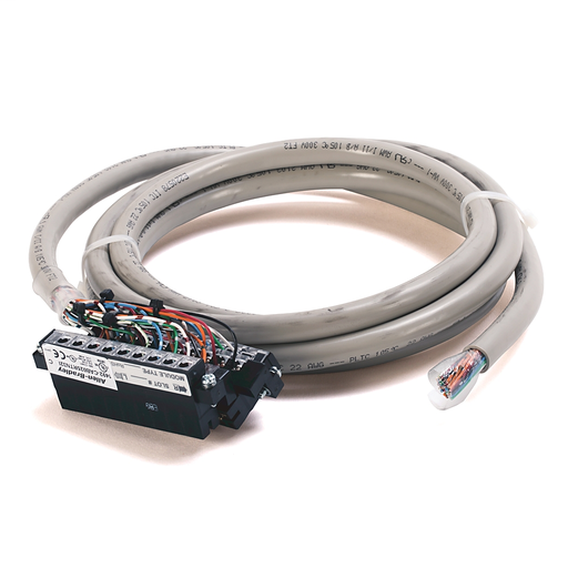AB 1492-CAB025RTN32I Digital I/O Ready Cable Using Type RTN32I, 40 Conductor (2 not connected), #22 AWG, w/2 1769-RTB18, length 2.5 meter (8