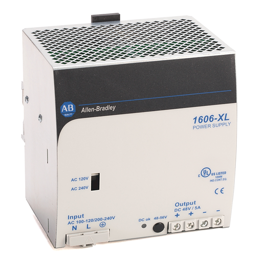 AB 1606-XL240E-3 Standard Power Supply, 24-28V DC, 240 W, 3-Phase, 480V AC wide range / 450-820V DC Input Voltage