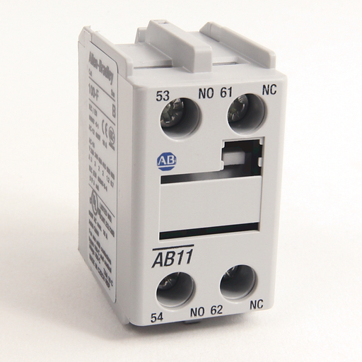 AB 100-FA22 Auxiliary Contact Block, Front Mounting, 2 N.O. 2 N.C.