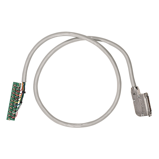 AB 1492-ACABLE010C Pre-wired Cable for 1746-NI8 Analog Inputs, 9 twisted-pair conductors, #22 AWG, shielded, w1746-RT25G connector & AIFM 25