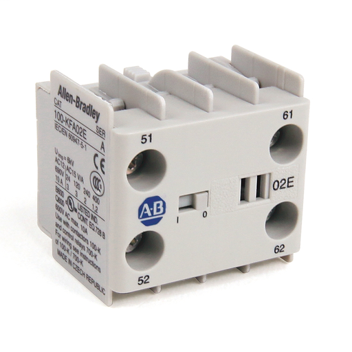 AB 100-KFA22Z 100-K/104-K/700-K Auxiliary Contact Blocks, Screw-In Terminals, Starting at 5-, 2 N.O. / 2 N.C., Shipped In Package Quantities