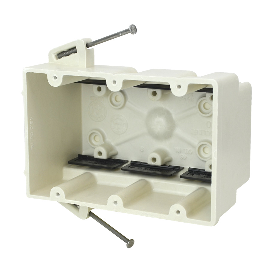 ALLI 3300-N 46.0CU-IN VOLUME ANGLED MID-NAILS SWITCH AND OUTLET BOX