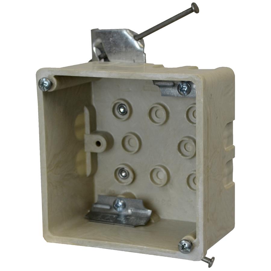 ALLI 9342-HN FBRGLS 4 IN SQ JUNC BOX 27.3 CU IN NAIL-ON HN HGR