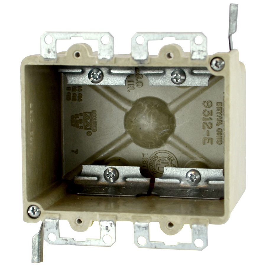 Allied Moulded Products 9312-EWC4 2-3/4 x 4-1/8 x 3-1/4 Inch 28 In 2-Gang Fiberglass Switch/Receptacle Outlet Box