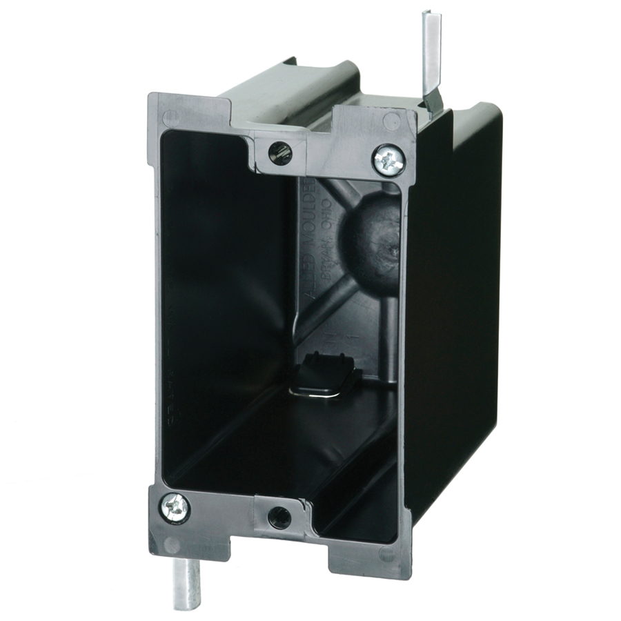 Allied Moulded Products P-122OW 22.5 In 1-Gang Switch/Receptacle Outlet Box