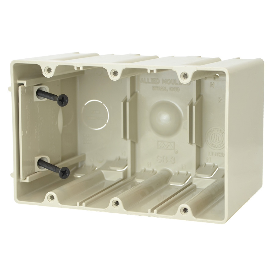 Allied Moulded Products SB-3 64.0 Inch  Internal Screws Adjustable Switch and Outlet Box