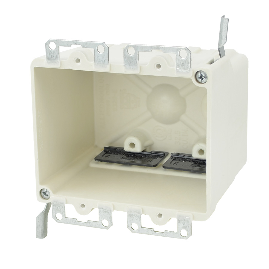 Allied Moulded Products 9329-EWK 3-5/32 x 4-1/6 x 3-1/4 Inch 32.5 In 2-Gang Fiberglass Switch/Receptacle Outlet Box