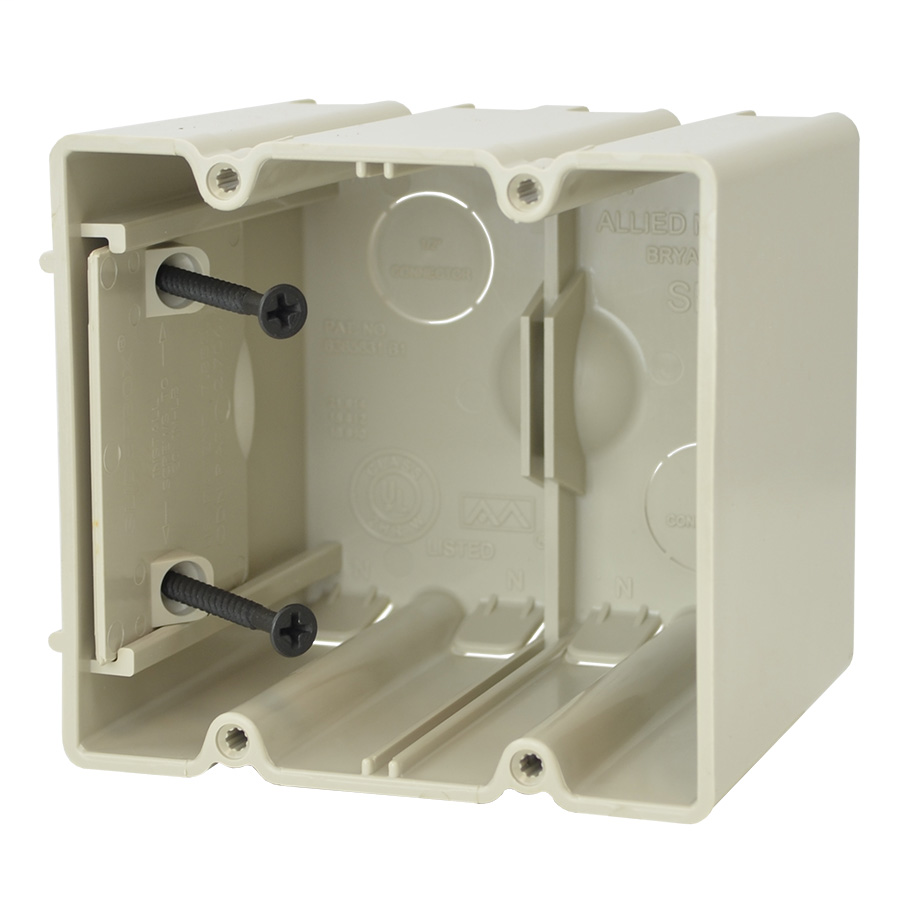 Allied Moulded,SB-2,42.0 CI 2 GANG ADJUSTABLE DEVICE BOX