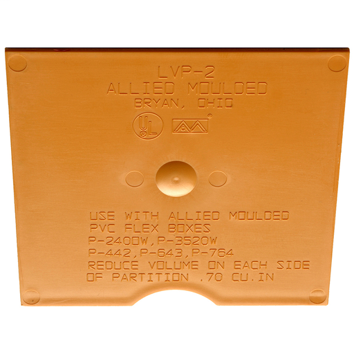 Mayer-Low Voltage Divider Plate for use with (P-442, P-643, P-764 series) FLEXBOX new work products (P-240OW, P-352OW) FLEXBOX old work products and (SB-2, SB-3, SB-4) SLIDERBOX adjustable box products.-1