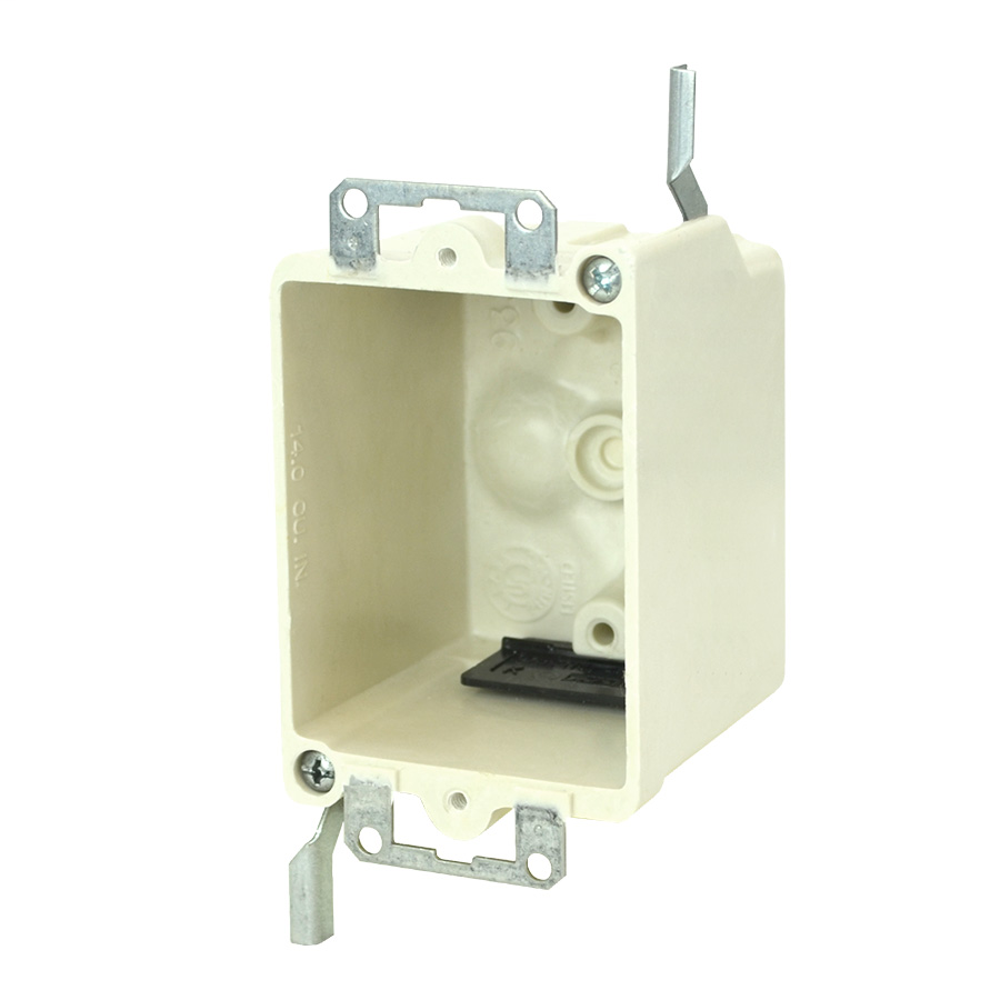 Allied Moulded Products 9331-EWK 2-1/2 x 2-3/8 Inch 3-1/4 Inch 14 In 1-Gang Fiberglass Switch/Receptacle Outlet Box
