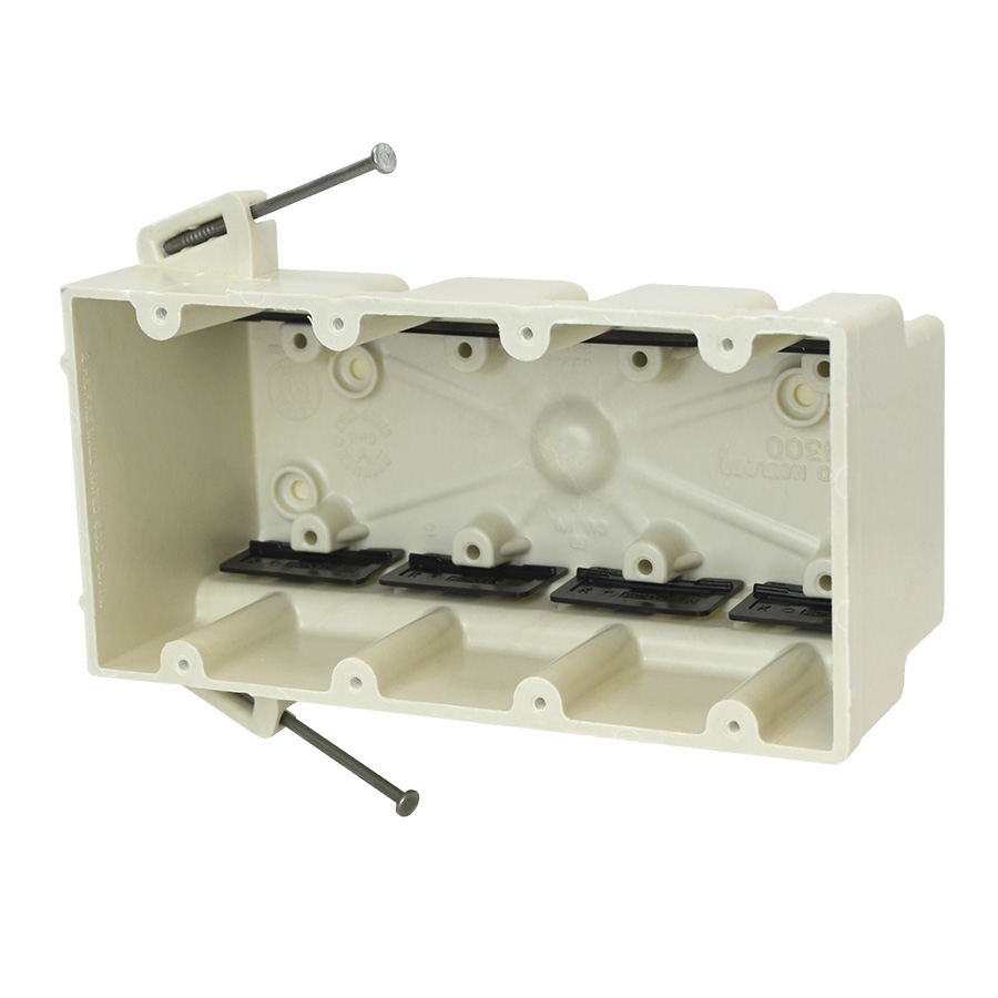Mayer-Four gang electrical box for use with nonmetallic sheathed cable-1