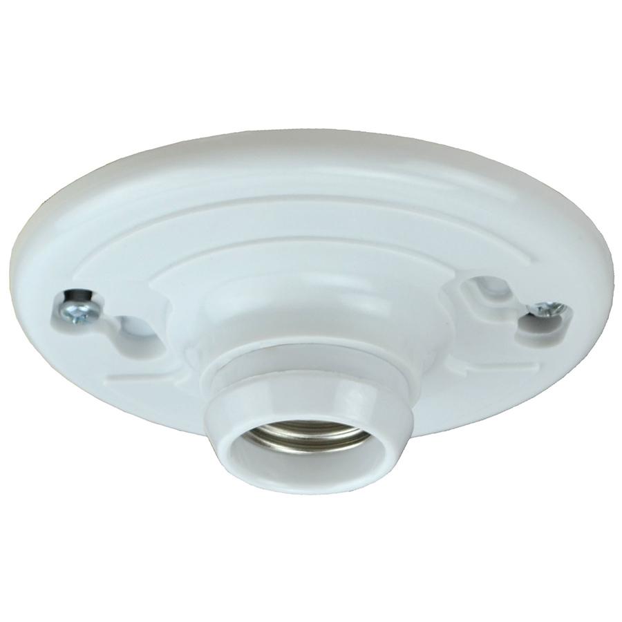 Keyless medium base incandescent lampholder