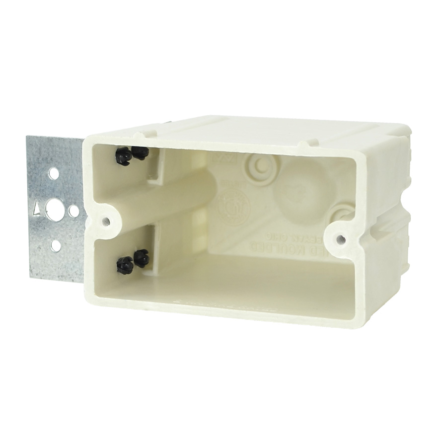 Allied Moulded Products 1098-Z4H 3-1/4 x 2-1/4 x 3-3/4 Inch 20.5 In 1-Gang Fiberglass Offset Switch/Receptacle Outlet Box