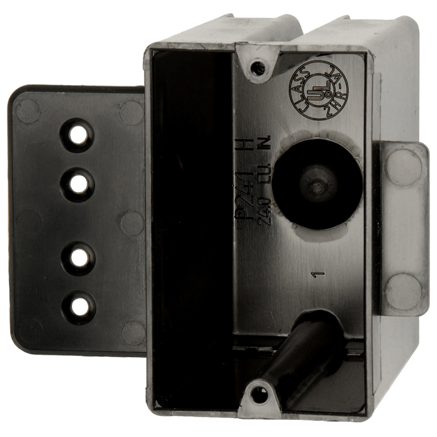 Allied Moulded Products P-241H 3-9/16 x 2-1/4 x 3-3/4 Inch 24 In 1-Gang PVC Switch/Receptacle Outlet Box