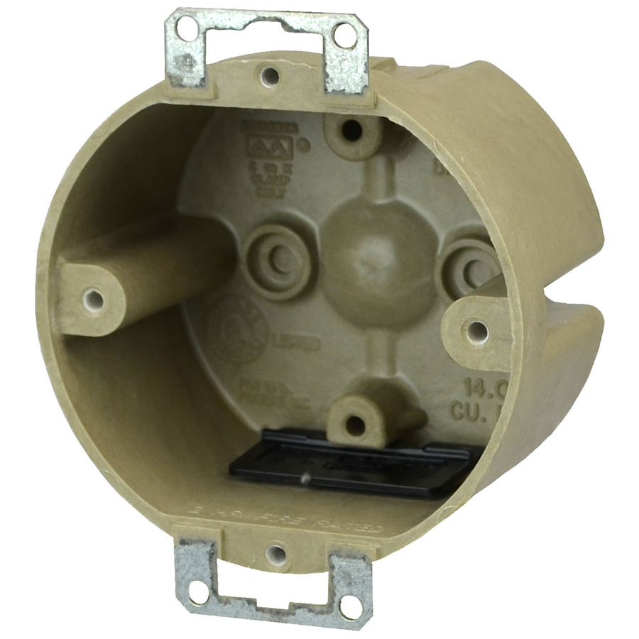 Allied Moulded Products 9338-EKT 2 x 3-1/2 Inch 14 In Fiberglass Round Fixture Outlet Box