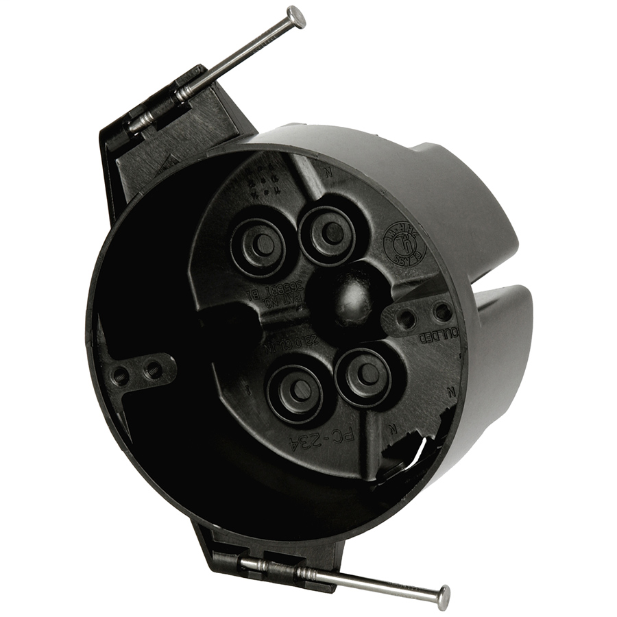 Allied Moulded Products PC234-N 2-3/8 x 4 Inch 23 In Polycarbonate Round Ceiling Fixture Outlet Box