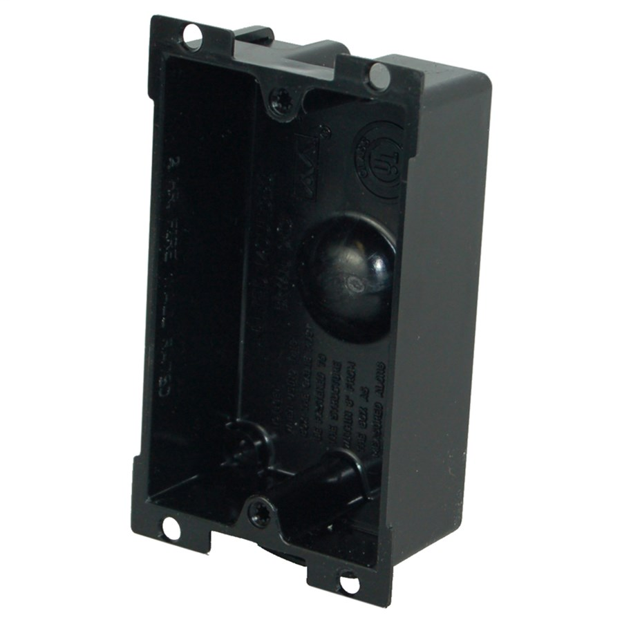 Allied Moulded Products P-108E 1-1/4 x 2-3/8 x 3-5/8 Inch 8 In 1-Gang PVC Switch/Receptacle Outlet Box