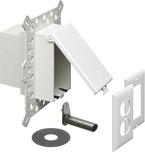 ARLI DBVM1W WHITE O/D RECEPT. BOX- STUCCO