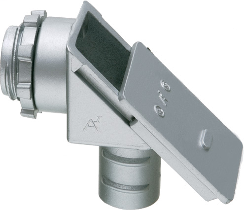 Arlington GF850 1/2 Inch 90 Degrees Flexible Connector with Sliding Cover