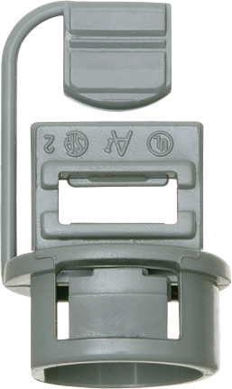 Non-metallic Push-In connector utilizes a wedge push in design for a secure grip with a knockout size of 1/2 inch only accepts 1-14/2 to 1-10/2 NM wire.