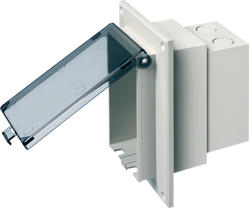 Arlington DBVR1C Clear Outdoor Receptacle Box