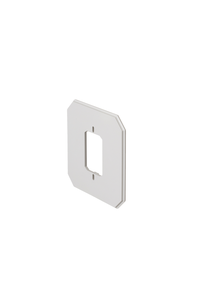 Works on all siding types. Before or after siding is up. Textured paintable surface. NM cable connector provided. 6-1/2 x 6-1/2 mounting surface.