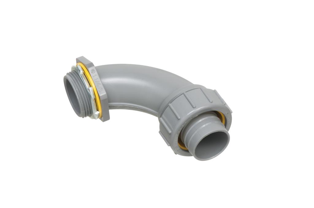 Arlington NMLT90125 1-1/4 Inch PVC Liquidtight 90 Degree Connector