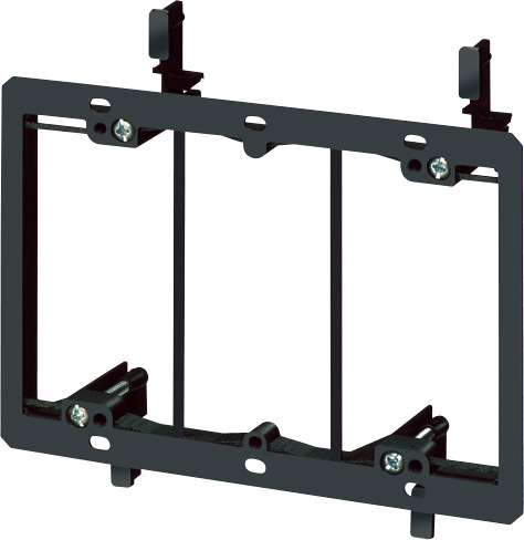 Low Voltage mounting bracket, three gang for installation on existing construction for class 2 wiring only.