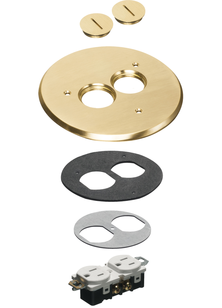 Arlington FLB6220MB 6 Inch Brass Round Cover Kit