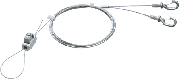 "Galvanaized braided support wire 18"" Y kit with hooks. 20ft length. Holds up to 75lbs. .080 wire"