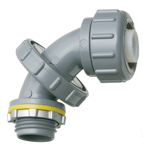 Arlington NMLT5090 Zero to 90 1/2 Inch PVC Liquidtight Connector