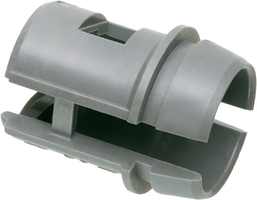 "Non-metallic, 3/4"" cable connector for non-metallic sheathed cable, listed for 1 to 2 cables."