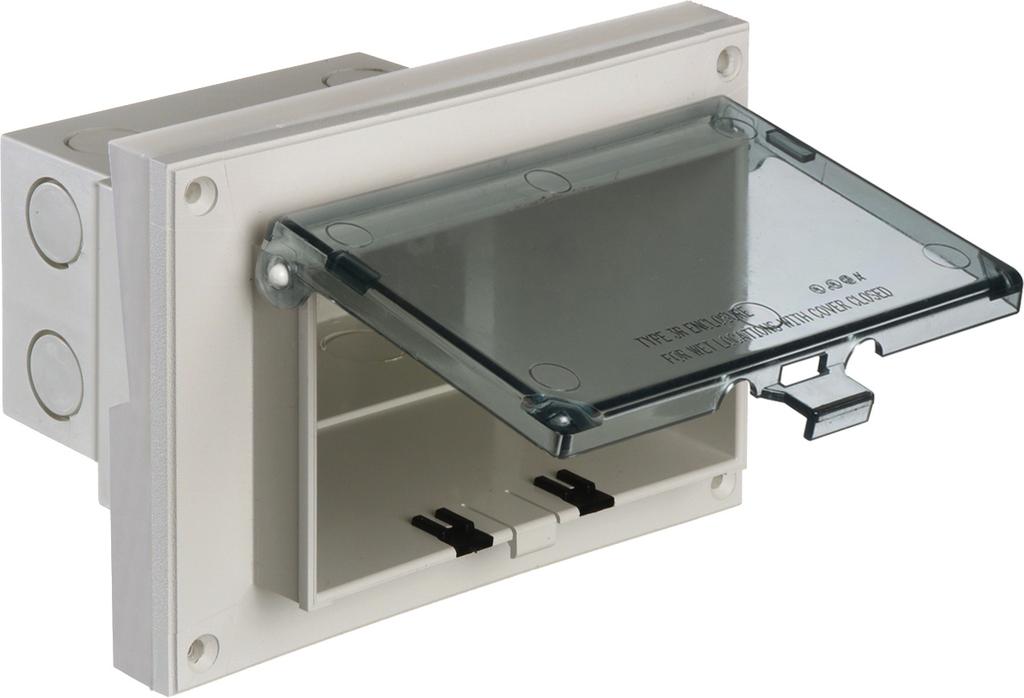 Arlington DBHR151C Horizontal Clear Weatherproof Box for 5/8 Inch Lap
