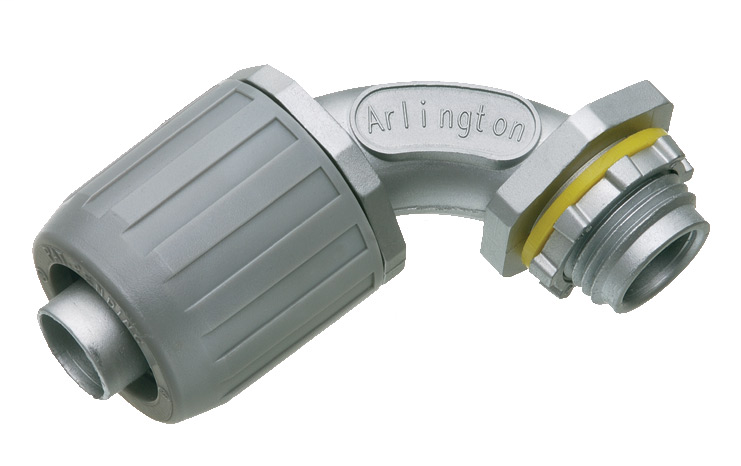 Arlington LT905 1/2 Inch 90 Degree Liquidtight Push Connector