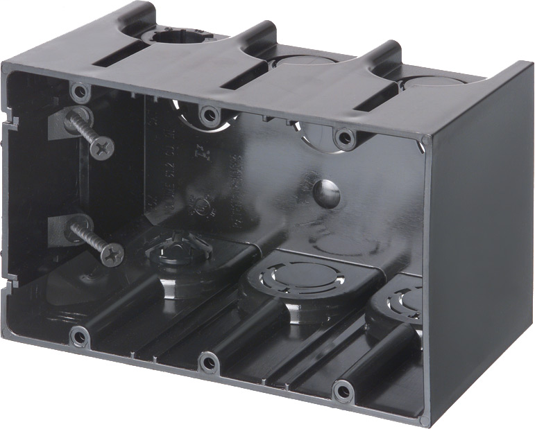 Arlington F103 3-Gang 20/Unit Screw Mount Device Box