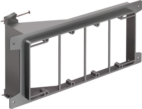 Arlington LVN4 4-Gang Low Voltage Mounting Bracket