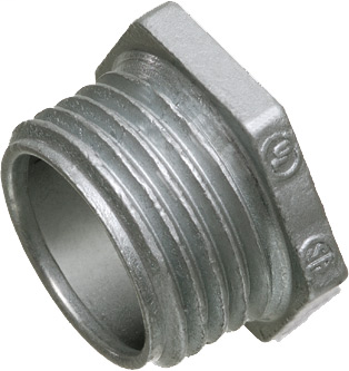 "Mayer-1"" Conduit nipple, zinc die-cast, Provides burr free entrance into the box. Trade Name - Chase Nipple-1"