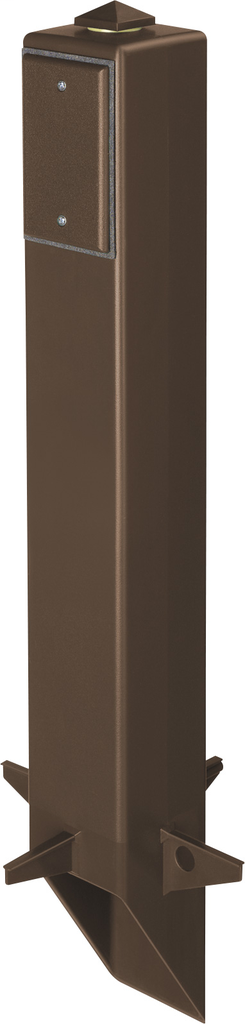 """Gard-N-Post. 26"""" support for outdoor light fixtures or GFCI devices outdoors. Opennings on both sides of post for back to back power or power on one side and low voltage on the other. Built in stablaizers need to assembly. Opennings in stabalizers allow f"""