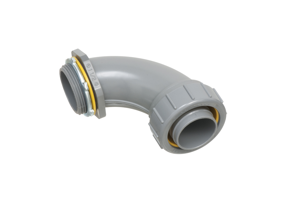 """Mayer-Non Metallic 90 degree connector for use with non metallic liquid tight conduit type B only. 1-1/2"""" Trade Size.-1"""