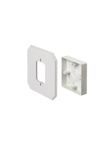 Works on all siding types. Before or after siding is up, Mounting holes on inside of box. Textured paintable surface. NM cable connector provided. 6-1/2 x 6-1/2 mounting surface. Provides a .895 J-channel. 15-1/2 cubic inch box.