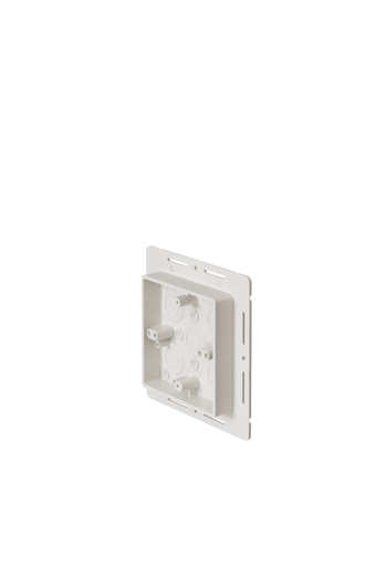 Mayer-Works on all siding types. Before or after siding is up, Mounting holes on inside of box. Textured paintable surface. NM cable connector provided. Provides a .895 J-channel. 15-1/2 cubic inch box. With Flange.-1