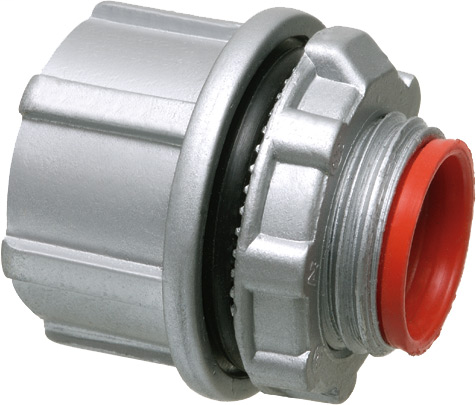 """Zinc Die-cast water conduit hub for rigid IMC conduit. Comes with insulated throat. Trade Size 2""""."""