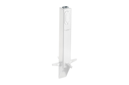 "For when you only need to install outdoor light fixtures, choose Arlington's low-profile Gard-N-Post. The 19.5"" UV rated white plastic post can accommodate most outdoor fixtures with a 3/4"" or 1/2"" NPT. The base has built-in stabilizers for extra stabilit"