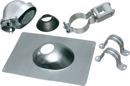 "Mast Kit, 2"" trade size. Kit provies an assorment of service entrance mast components for installing overhead service drops in residential and commercial buildings using conduit. Includes Entrance Cap, Roof Flashing, Ampere Service."
