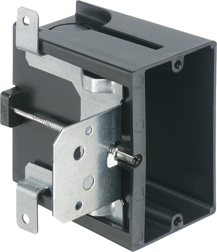 """Non-Metallic box for new construction. Adjustable for wall thicknessess from 1/4"""" to 1-1/2"""". Single Gang, Vertical, 21.0 cu. (ARL FA101 ADJUSTABLE 1G PLASTIC)"""