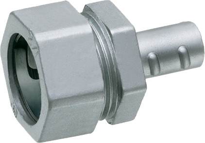 "Combination coupling, emt compression to flexible metal conduit, trade size 3/4"". Zinc die-cast."
