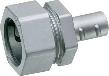 """Combination coupling, emt compression to flexible metal conduit, trade size 3/4"""". Zinc die-cast."""